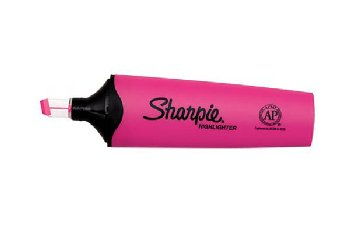 Sharpie Clearview Highlighter with Smear Guard - Pink