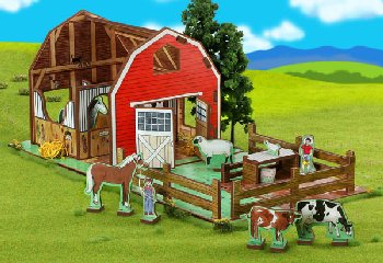 Family Farm Playset, Storybook & Characters (Happy Place Collection)