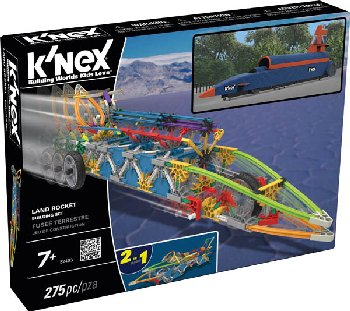 K'Nex Land Rocket Building Set (275 Pieces)