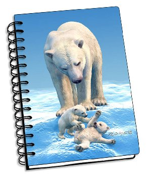 "Polar Bears 3D Notebook 4"" x 6"""
