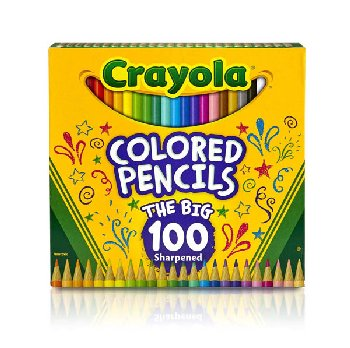Crayola Colored Pencils Long 100 count