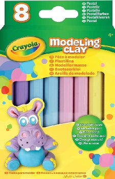 Crayola Modeling Clay: Pastel Color Assortment - 8 count