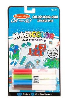 Magicolor Color-Your-Own Sticker Book - Blue