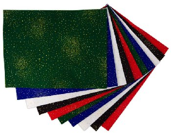 "Glitter Felt Assortment (9"" x 12"") - 10 sheets"