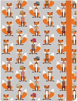 Dapper Foxes Journal (Mid-Size Journal)