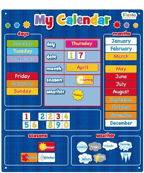 Magnetic My Calendar - Blue (Large)