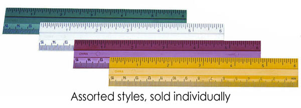 "Ruler - Plastic - 6"" (Assorted Color)"