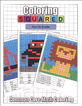 Coloring Squared: Fourth Grade (Coloring Squared Common Core Math Coloring Books)