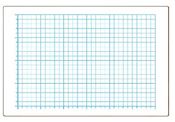 "Quadrant Grid Dry Erase Board - Two-Sided (12"" x 18"")"