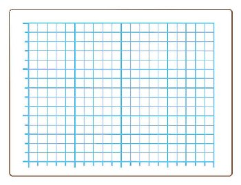 "Quadrant Grid Dry Erase Board - Two-Sided (9"" x 12"")"