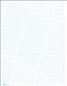 "Graph Paper, Classic 1/6"" Squares (100 sheet pack)"