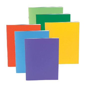 "Bright Blank Book Assorted Colors (single) 2 3/4"" x 4 1/4"""