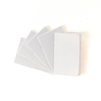 "White Blank Books (2 3/4"" x 4 1/4"") Package of 10"