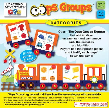 Oops Groups Categories Game