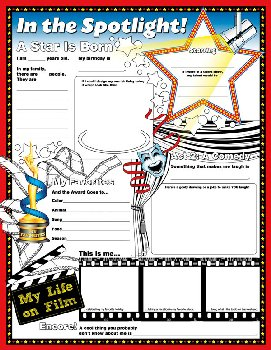 In the Spotlight Fill Me In Activity Poster