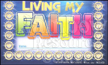 Living My Faith Incentive Punch Card