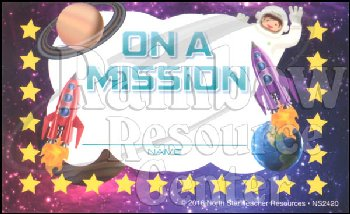 On a Mission Incentive Punch Card