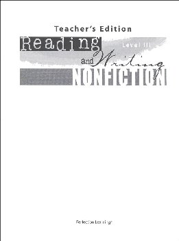 Reading and Writing Nonfiction Level III Teacher Guide