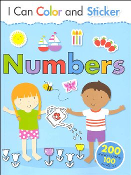 I Can Color and Sticker: Numbers