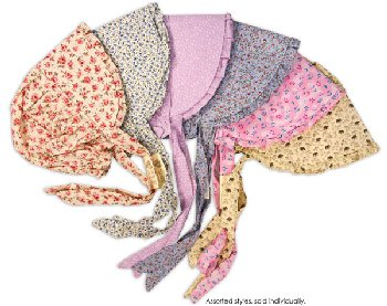 Print Bonnet - Large (assorted colors/styles)