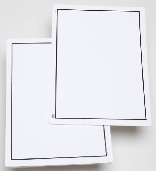 Write-On/Wipe-Off Blank Mat