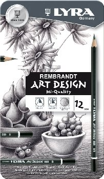 Rembrandt Art Design Drawing Pencils (12 in Tin Case)