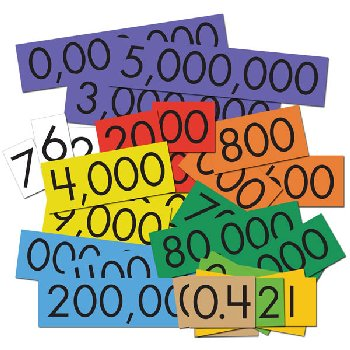 Place Value Cards Set - 10-Value Decimals to Whole Numbers