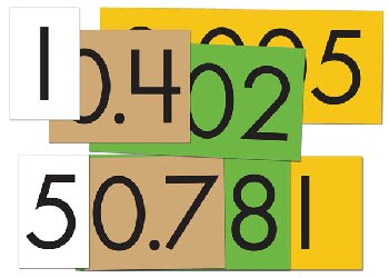 Place Value Cards Set - 4-Value Decimals to Whole Number