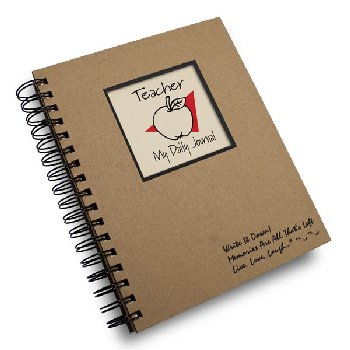 Teaching:- A Teacher's Journal - Write it Down Full Size Kraft Collection 200-page Journal