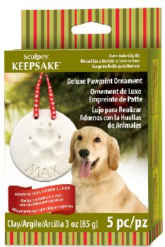 Sculpey Keepsake Clay: Deluxe Pawprint Ornament Kit