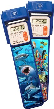 Mark-My-Time 3D Digital Booklight - Shark/Reef Flip