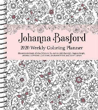 Johanna Basford 2020 16-Month Weekly Coloring Planner