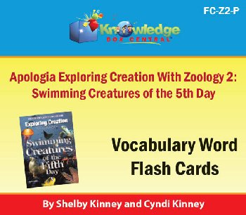 Apologia Exploring Creation with Zoology 2 Vocabulary Flashcards Printed