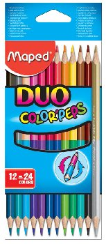 Color Pep's Duo Tip Colored Pencils Package of 12