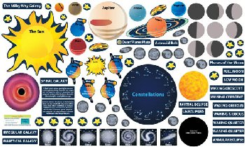 PEEL, PLAY & LEARN Solar System Educational Wall Play Set