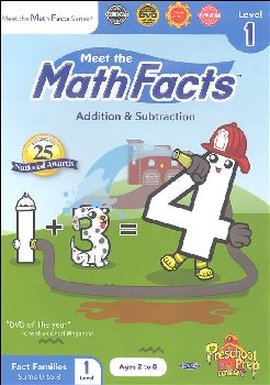Math Facts Add/Subtract Level 1 DVD