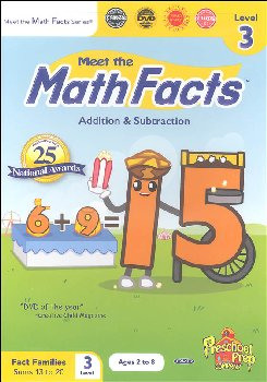 Math Facts Add/Subtract Level 3 DVD