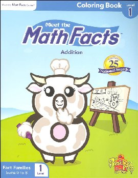 Meet the Math Facts Addtn Coloring Book Lvl 1
