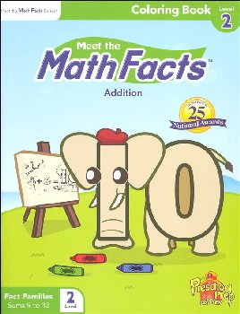Meet the Math Facts Addtn Coloring Book Lvl 2
