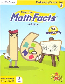 Meet the Math Facts Addtn Coloring Book Lvl 3