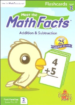 Meet the Math Facts +/- Flashcards Level 2