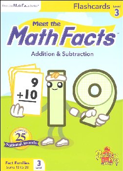 Meet the Math Facts +/- Flashcards Level 3