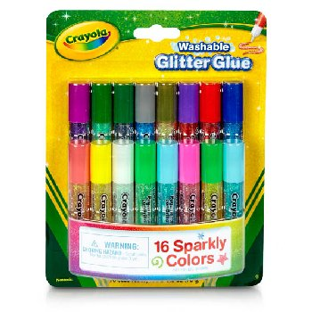 Crayola Mini Washable Glitter Glue - 16 count