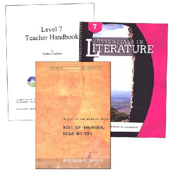 Essentials in Literature Level 7 Combo (DVD, Workbook, Teacher Handbook and Novel)