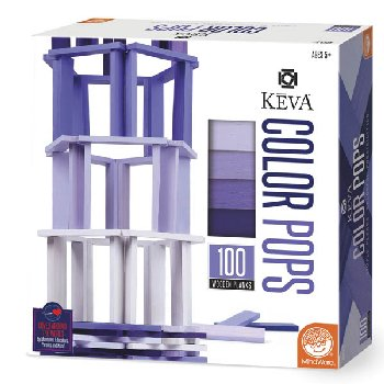 KEVA Color Pops Purple Set - 100 Planks