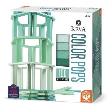 KEVA Color Pops Teal Set - 100 Planks