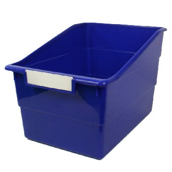 Wide Tattle Shelf File - Blue