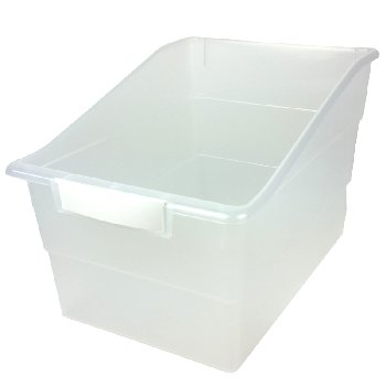 Wide Tattle Shelf File - Clear