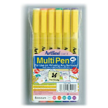 MultiPens Pastel - Bullet 1.0mm (6 pack)