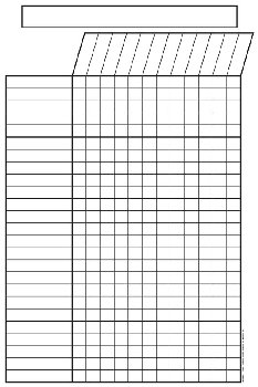 "Magnetic Black & White Incentive Chart - 12""x18"""